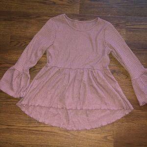 Romwe Mauve Long Sleeve Shirt